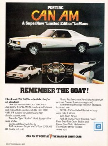 1977 Pontiac Can Am Remember the Goat