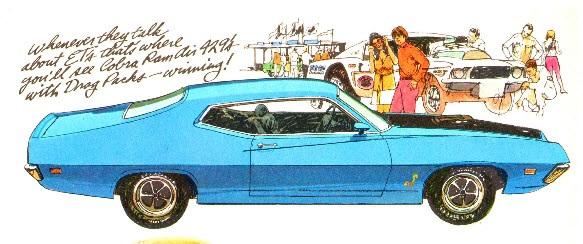 1970 Ford Torino Cobra Blue
