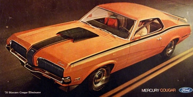 1970 Mercury Cougar Eliminator Ad
