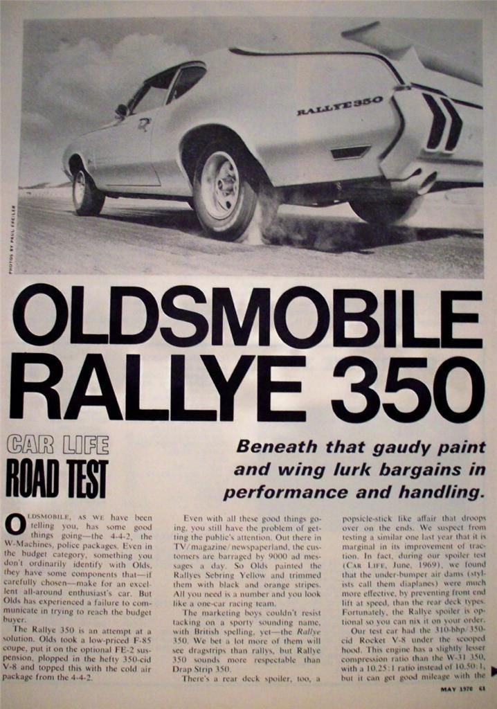 1970 Oldsmobile Rallye 350 – Horsepower Memories