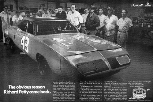 1970 Plymouth Superbird Richard Petty Advertisement