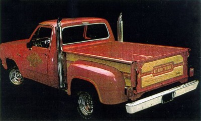 1978 Dodge Lil Red Express Side Rear TCB2