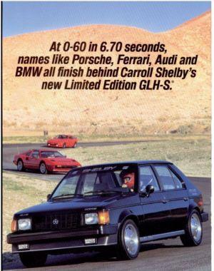 1986 Shelby Dodge Omni GLH-S Advertisement
