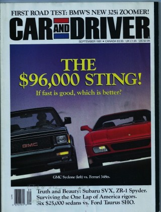 Car and Driver September 1991