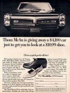 Thom McAn GTO Ad