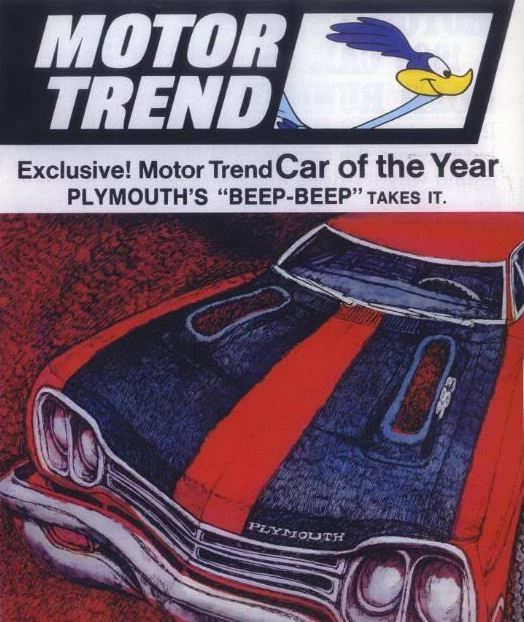 1968 1970 plymouth road runner horsepower memories for Motor trend drivers car of the year