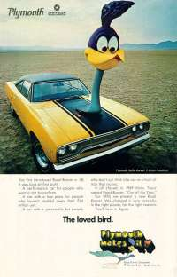 1970 Plymouth Road Runner Ad TCB