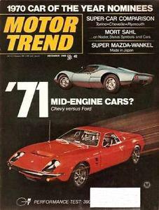 December 1969 Motor Trend TCB