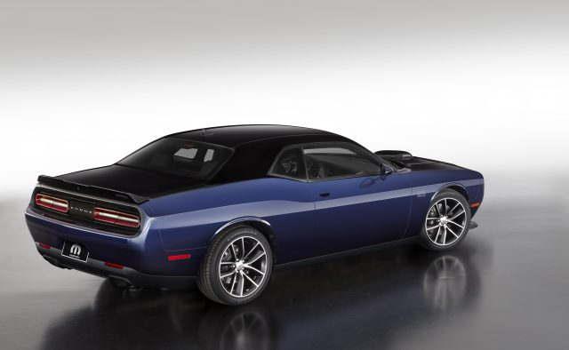 The Mopar '17 Dodge Challenger, Pitch Black/Contusion Blue version.
