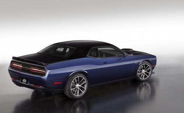 The Mopar '17 Dodge Challenger, Pitch Black/Contusion Blue version.