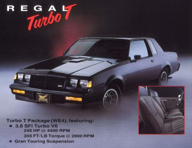 1987 Buick Regal Grand National, Turbo T, and GNX – Horsepower Memories