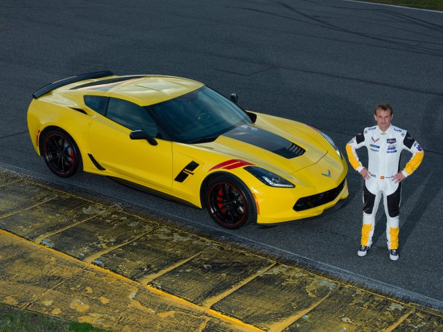 Corvette Racing driver Antonio Garcia stands by his own special