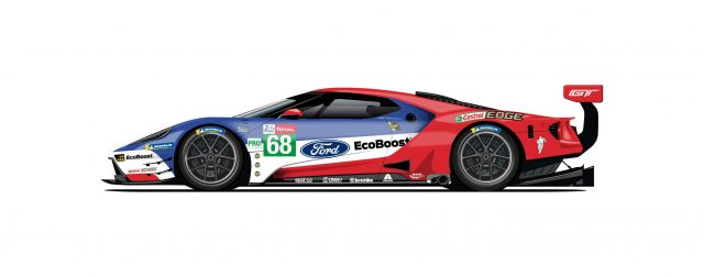 Ford Pays Homage to Le Mans with CelebrationLiveries